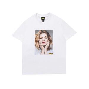 Justin Bieber Drew House Photo T shirt Short Sleeve O-Neck Cotton Hip Hop Tee Mens Designer t shirts Women Smile Drew Tees Streetwear Tops
