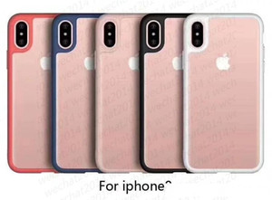 Shockproof Armor Case Soft TPU Bumper Clear Acrylic Back Cover Defender Case for iPhone X 8 7 6 6s Plus No Package