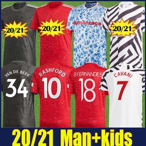 2020 Red Devils Man Utd Pogba B.FERNANDES SOOCER Jersey Kit Kit Manchester Rashford Van de Beek Jersey WAN-BISSKA CAVANI JERSEY