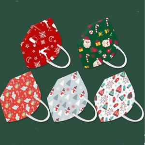 Рождество маска Xmas дизайн маска 5 слой елочных шапки подарки маска для лица Рот Обложка РМ2,5 Респиратор Дизайнер Маски для лица Продажа E101502