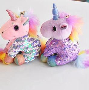"""Unicorn keychain celected unicorn плюшевая кукла кукла цепь рюкзак сумка автомобиль ключ крылью кулон """"милый держатель ключей животных вечеринка hwb4488"""