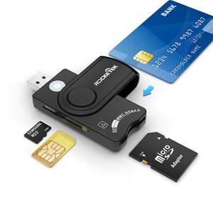 Lettore multi-schede CAC / DOD Militare USB SIM Lettore di schede SIM SDHC / SDXC / Sdmicro SD Reader per SIM e MMC RS 4.0