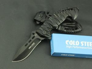 Cold steel 230 aluminum shank folding knife 7Cr17Mvo steel 58HRC folding knife gift knife Christmas gift 1pcs freeshipping