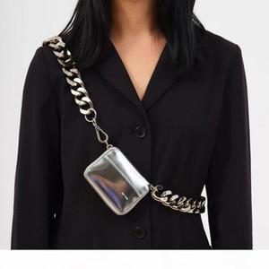 2020 new KARA thick metal chain bag BLACK BIKE WALLET shoulder bag mini small chest bag coin purse ins explosion