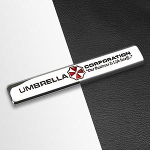 Coche Styling 3D Metal Umbrella Corporation Emblem Sticker Calcomanías para BMW Audi Toyota Peugeot Suzuki Citroen Fiat Skoda Accesorie