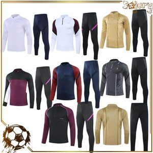 Top Running Jacket and Calça Survection 2 PCS Set Executando Uniformes Casuais 2021 2022 Adulto Sportswear Outono e Inverno Futebol Tracksuit