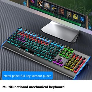 USB Mechanical Keyboards F2099 Blue Switch Wired Gaming Keyboards 104KRO For Tablet Desktop Computer Game