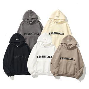 Street Fashion Essentials Lettere tridimensionali riflettenti Uomini e donne Oversize Maglia in velluto con cappuccio con cappuccio Impianto