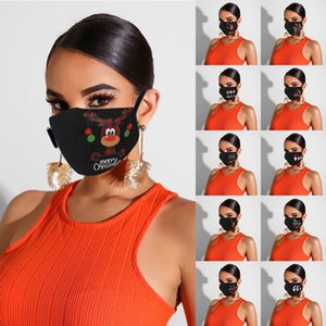Stampe volto di 1pcs adulti sciarpa lavabile Earloop senza volto stampato di Natale Mask decorazioni per il fronte Cosplay Accessori di Natale
