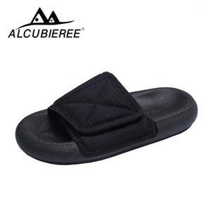 Alcubieree zapatillas para hombres Pareja playa lienzo zapatilla pareja zapatillas ajustables zapatillas de ancho pies flip chanclas zapatos casuales1