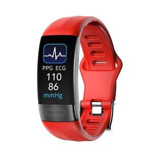 P11 PLUS Pulsera inteligente Deporte Smart Watch SmartWatch ECG Bluetooth pulsera Monitor de ritmo cardíaco Monitor de mensaje Call Smart Band 201202
