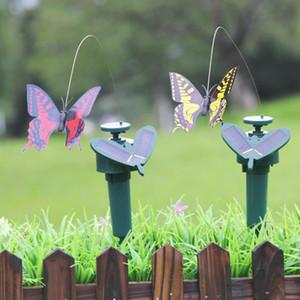 Solar Power Tanzen fliegende Schmetterlinge flattern vibration fly hummingbirne fliegende vögel gartenhof dekoration lustige spielzeug dwf3178