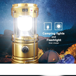 Solar lamps Portable Outdoor LED Camping Lantern Solar lights Collapsible Light Outdoor Camping Hiking Super Bright led Light