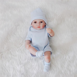 Reborn baby dolls Full body silicone Baby Toy Model Doll Handmade Reborn 25cm Real Looking Newborn Baby dolls Girl Silicone Model Doll Toy