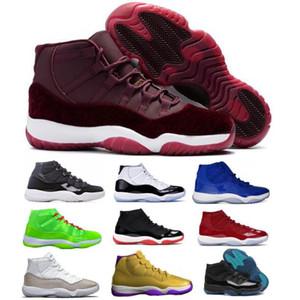 Mens Jumpman 11 11s di pallacanestro scarpe da ginnastica Red Velvet Heiress Leggenda Gamma Blu Concord Playoff Bred Space Jam Women Tennis Sneaker Sneakers
