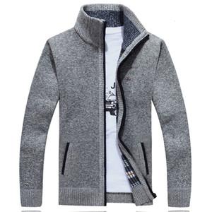 Winter Jacket Men Pulls Homme Cardigans Fleece Warm Red Eden Men Zipper Windbreaker Black Plus Size M~3XL Coats Male 201023