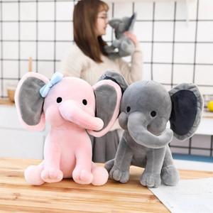 Comfort Plush Elephant Doll Toy Kids Sleeping Back Cushion Cute Stuffed Elephant Baby Accompany Doll Xmas New Year Gift
