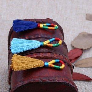 10 30 unids Artesanías Tassel Fringe Trim Cable Cortina Prendas de Ropa Accesorios Decorativos DIY Pendientes Color Color Colgante Bucle Tassel H WMTQML