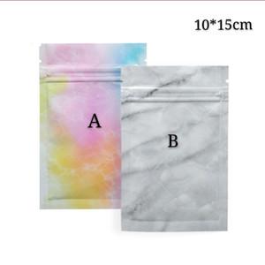 10*15cm 100pcs Colorful Zip Lock Mylar Foil Zipper Seal Phone Accessories Package Bags Self Seal Gift Storage Packing Zipper Packaging Bags