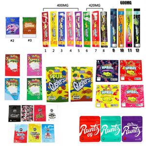 NeRds ROPE Bites Dank Gummies WONKA ERRLLI Runtz Gasco SOUR GUSHERS Cannaburst ROPE Infused Packaging Mylar Bag Pouch Package BEC3181