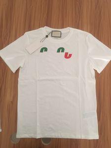 19SS Flaş Yaz T Gömlek Stilist Erkekler Tee Made İtalya Moda Kısa Kollu Mektuplar Baskılı T-shirt Kadın Giyim S-2XL