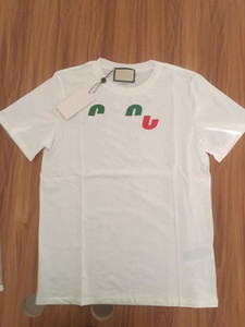 19SS Flash Summer T Shirt Stylist Men Tee Hecho en Italia Moda Moda Corto Clastas Impresas T-Shirt Ropa Mujer S-2XL
