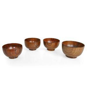 Деревянная чаша Тапансе Суп Рисовые лапши Чаши Детские Ожеренные Коробка Кухонная посуда Для Детских Кормление Пищевые Контейнеры могут быть пользовательскими HWC853