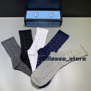 4 Pair / Box animais 5 / Pair / Box Head Desiger Mens Socks Quatro cinco pares Esportes Socks Lobo bordado Lazer Cat Man Cotton Socks Gift Box Set