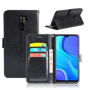 Crazy Horse Card Slots PU Leather Bags For Xiaomi Redmi 9 9A 9C 7 7A 8 8A K30 K30 Pro Flip Wallet Case