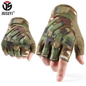 Jiusuyi medio dedo guantes tácticos mitones sin dedos SWAT GLOVE GLOVE Paintball disparar ciclismo Driving Men 2020