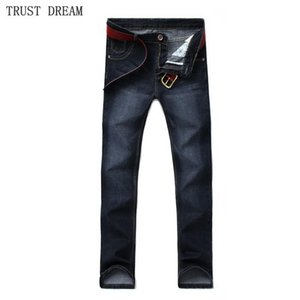 Classic Men Casual Jeans Striaght Stonewashed Business Denim Pants Male Slim Personal Mode Homme Hombre Regular Clothing
