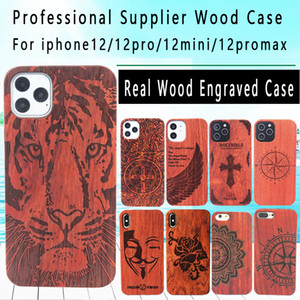 Корпус из натурального дерева для iPhone 12 PRO 11 XS MAX XR 7 8 PLUS Greath Graved Cover Compured Roods Rood Phone Shell Bamboo Face