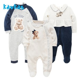 Kavkas Baby Girl Vêtements Hiver Hiver Chaud Housse à manches longues Rompers Pujamas Sleeping Pyjamas Bebes Menina C0126