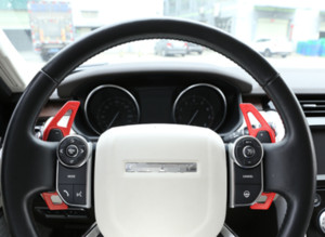 For Land Rover Range Rover Evoque 2020 red steering wheel Shift paddle cover trim 2pcs