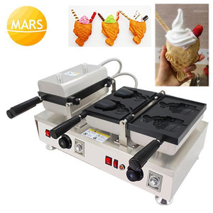 Giapponese Taiyaki Ice Cream Waffle Makers 220 V 110 V Apra Bocca aperta Taiyaki Fish-Shape Waffle Cono Machines Iron Pan in Machinery1