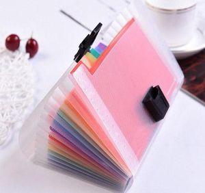 13 Grids A6 Document Bag Cute Rainbow Color Mini Bill Receipt File Bag Pouch Folder Organizer File wmttMv dh_niceshop
