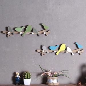 Creative Home Interior Decoração Bird Bird Wood Revestimentos Cabide Roupas Cabide Crianças Quarto Sala de Estar na parede Pendurar Decorações