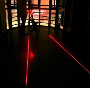 Cycling Bike Bicycle 2 Laser Projector Red Lamps Beam and 3 LED Flash Rear Tail Lights Set Night Safer Bike Accessories Lights20