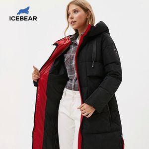 ICEbear New Winter Women Jacket High Quality Long Woman coat Hooded Female Parkas Women's Brand Clothing GWD19507I 201022
