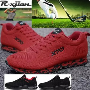 R .Xjian Brand 2020 New Brand Breathable Training Golf Shoes For Men Outdoor Grass Anti Slip Professional Golf Sneakers Mens Ath wit