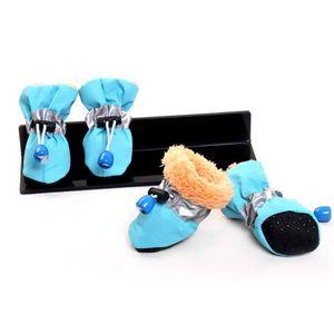 Petlasia New Winter Pet Dog Shoes 4pcs / Set Large Dog Boots Cotton Impermeable Impermeable XS XXXL Para Bulldog Ocho Color Zapatillas Mascotas WMTOCM