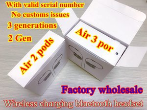 New High quality with valid serial number Air Gen 3 tws top Chip Rename GPS Wireless Charging Bluetooth Headphones PK Pods 2 AP Pro AP2 AP3