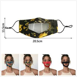 Sağır Temizle Pencere yüz maskeleri Nefes toz geçirmez Ağız maskeleri Yıkanabilir kulak askısı Yüz ayarlanması Şeffaf Yüz maskeleri Maske mute FWF7