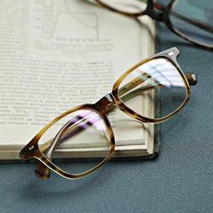 Retro acetate glasses frame men Classic vintage square optical eyewear Myopia presbyopia woman prescription computer Eyewear