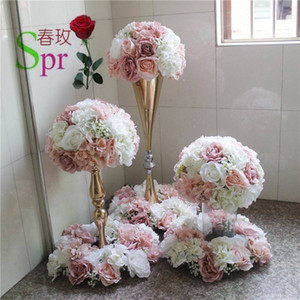 SPR wedding table center flower ball wedding road lead artificial flore centerpiece wedding backdrop flower decoration T200509