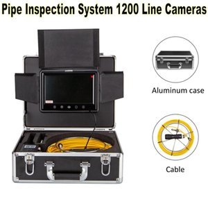 Cameras WP70E HD1200TVL Dual Lens Pipe Drain Sewer Inspection Camera 12pcs White Lights 8pcs Infrared DVR Record