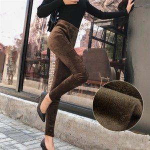 Cuhakci Size Women Casual Plus Veet Trousers High Elastic Winter Leggings Thick Legging Warm Pants