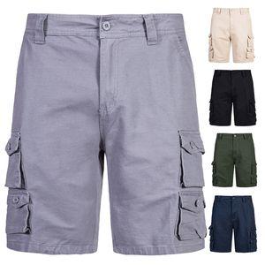 Yaz Erkek Spor Şort Çok Cep Basketbol Kargo Şort Beşinci Pantolon Koşu Şort Moda Casual Erkek Giysileri