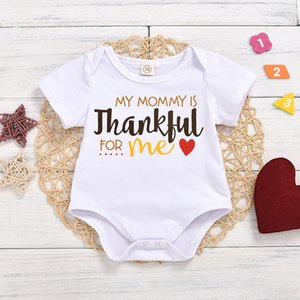 Infant Baby Boys Girls Round Neck Cotton Long Sleeve Letter Print Romper White colour Jumpsuit