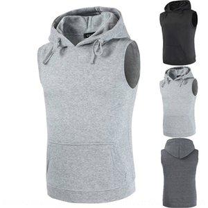 3LMxu 2020 Vest sleeveless new men's new pullover fashionable hooded Coat casual pocket vest coat sweater iJ500